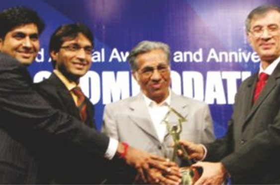 """Best Residential project of the year"" at the accommodation times ceremony in 2007"