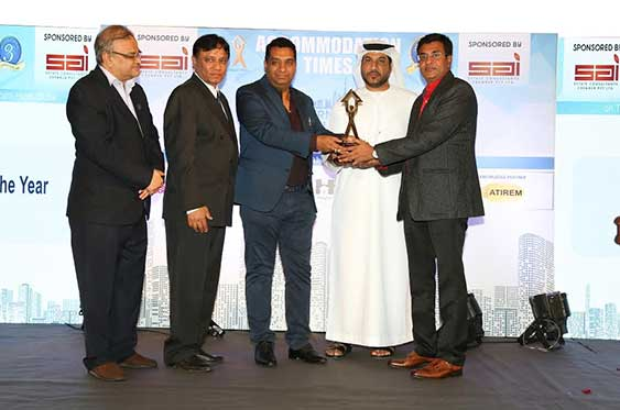 SANGHVI PARSSSVA ELEGANZA at Ghatkopar, Mumbai has been awarded By Accommodation Times 3rd International Award at Dubai as Best Project of year 2016