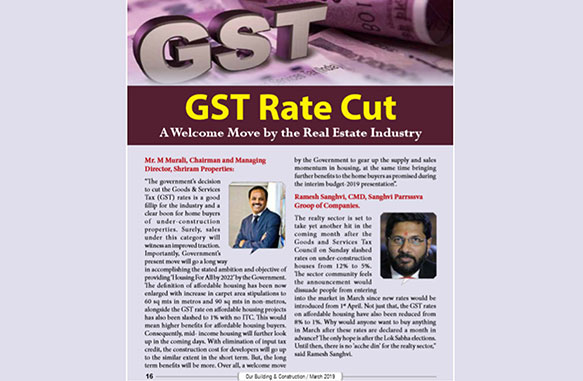 Reduction in GST rates on flat will give a much-needed boost to real estate